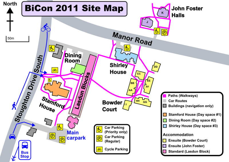 BiCon 2011 Site Map