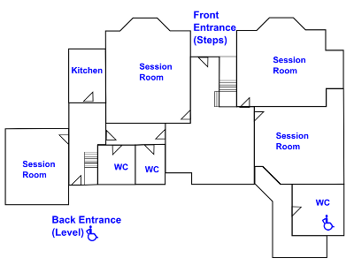 Line map of Shirley House Ground Floor