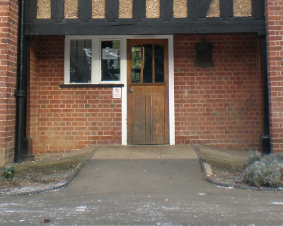 Photo of accessible back entrance to Shirley House