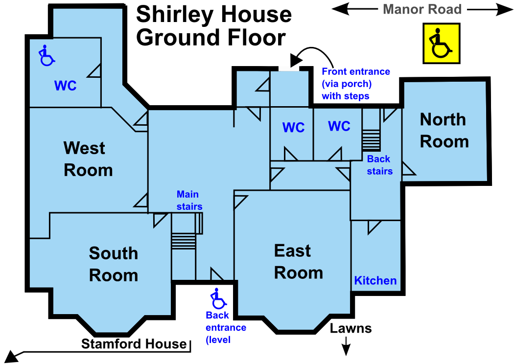 Plan of Shirley House