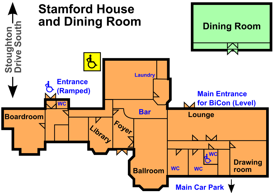 Stamford House and Dining Room Plan